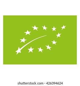 Organic product symbol , EU organic vector illustration