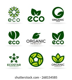 Organic Products and Ecology. Eco Icons (17)