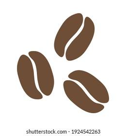 Organic Shaped Coffee Bean Icons. Vector Image.