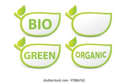 Organic sign, BIO sign, green sign
