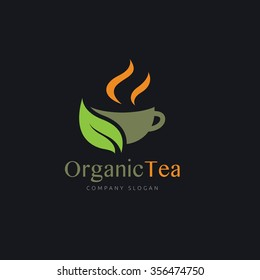 Organic Tea Logo Template