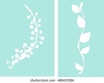 Organic Vector Drawing Cutouts