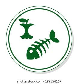 organic waste vector icon