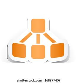 Organigram Symbol with Paper Design.