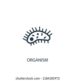 organism icon. Simple element illustration. organism concept symbol design. Can be used for web and mobile.