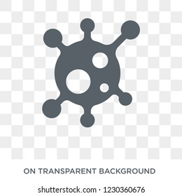 organism icon. Trendy flat vector organism icon on transparent background from General collection.