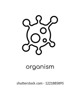 organism icon. Trendy modern flat linear vector organism icon on white background from thin line General collection, editable outline stroke vector illustration
