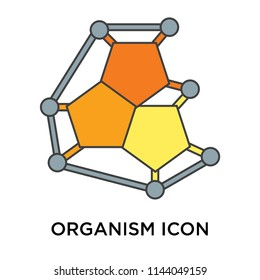 Organism icon vector isolated on white background for your web and mobile app design, Organism logo concept