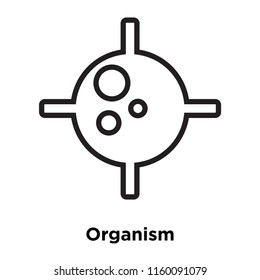 Organism icon vector isolated on white background, Organism transparent sign