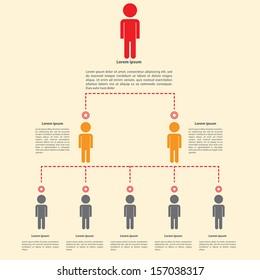 Organization chart infographics design, VECTOR, EPS10