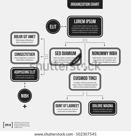 Organization chart template geometric elements on stock vector organization chart template with geometric elements on white background useful for science and business presentations friedricerecipe Images