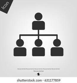 Organization chart vector icon