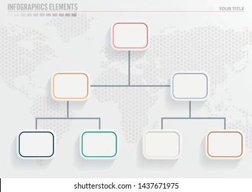organization Chart.Template for your business presentation