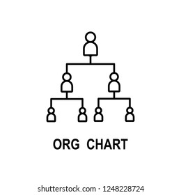 Organizational chart icon. Element of business structure icon for mobile concept and web apps. Thin line organizational chart icon can be used for web and mobile