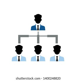 Organizational chart vector icon. filled flat sign for mobile concept and web design. Hierarchy structure glyph icon. Symbol, logo illustration. Pixel perfect vector graphics