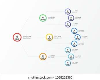 organizational structure of the company. business hierarchy infographic elements. three-level business management structure