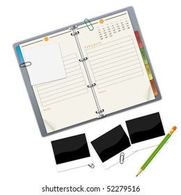 Organizer - an illustration for your design project.