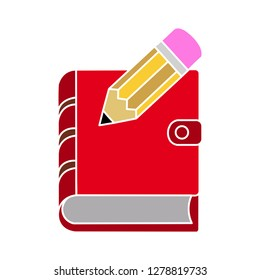 organizer planner book icon-notebook sign-address illustration-organizer illustration-directory isolated