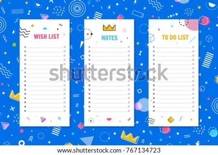 organizer schedule template note do list のベクター画像素材