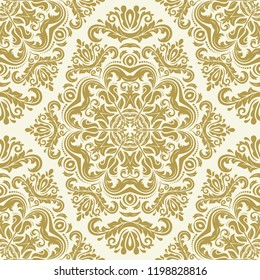 Orient Vector Cl Ic Pattern Seamless Abstract Background With Golden Vintage Elements Orient Background