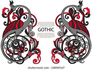 Oriental ancient character: phoenix.Ethnic bird