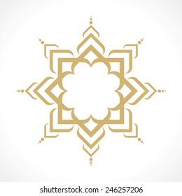 oriental arabic pattern