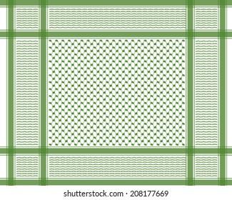 oriental arabic scarf pattern