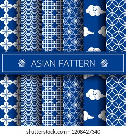 Oriental asian traditional korean japanese chinese patterns decoration elements set,web online concept page background,asians symbols.Koreans tradition ornate geometric forms,shapes,wrapping paper