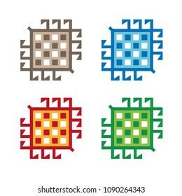 Oriental carpet element