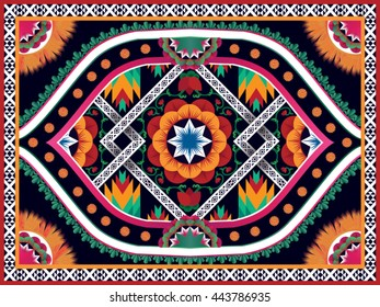 Oriental ethnic pattern traditional.Design for background,carpet,wallpaper,clothing,wrapping,fabric,Vector illustration.