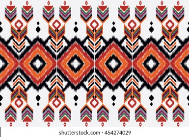 Oriental ethnic seamless pattern traditional background Design for carpet,wallpaper,clothing,wrapping,batik,fabric,Vector illustration embroidery style.