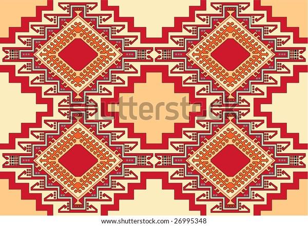 oriental geometric carpet vector