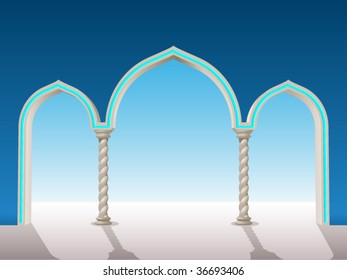 oriental gypsum archway to put on a background to frame