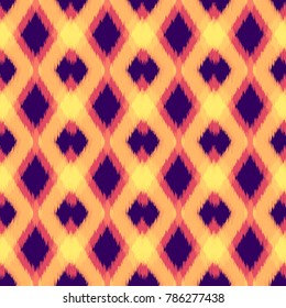 Oriental Hipster Seamless Pattern Template. Indian Fashion Seamless Pattern. Retro Chevron Texture. Pillow, Carpet Print Design Pattern.