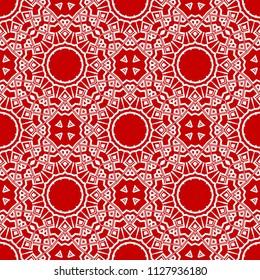 Oriental mandala. Ottoman motifs. Seamless pattern. It is Vector illustrations mandala. Ottoman motifs. Seamless pattern. It is Vector illustrations. Artwork for modern graphics.