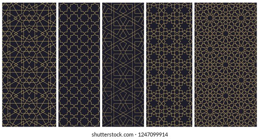 Oriental ornament for the background with geometric shapes. Islamic pattern is suitable for holiday decoration of cards and for various designs.