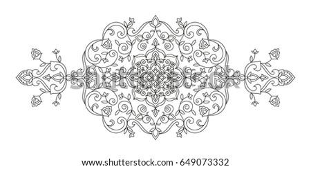 oriental ornament floral motifs line art stock vector royalty free rh shutterstock com