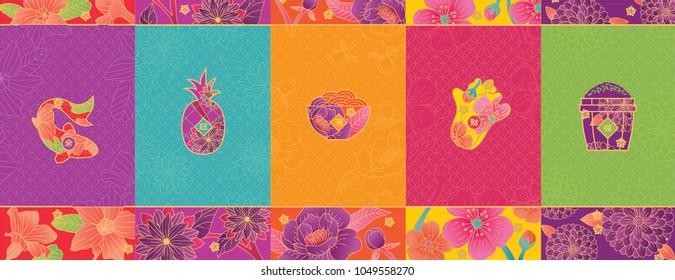 oriental pattern objects