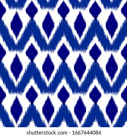 Oriental Seamless Pattern Template. Indian Fashion Seamless Pattern. Vintage Texture with Rhombus. Cloth, Linen, Textile Bohemian Style Background.