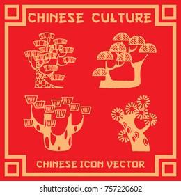 oriental style tree icon