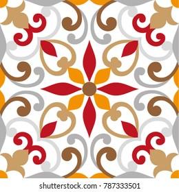 Oriental traditional ornament, Mediterranean seamless pattern, tile design, vector illustration, seamless vector ornament, east.