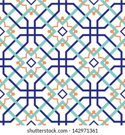 Oriental traditional ornament, Moroccan seamless pattern, tile design, vector illustration