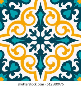 Oriental traditional ornament,Mediterranean seamless pattern, tile design, vector illustration can be used for desktop wallpaper for a wall hanging or poster, pattern fills, surface textures, textile.