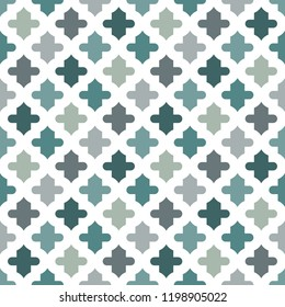 Oriental traditional pattern. Ogee ornament. Repeated maroccan crosses mosaic tiles. Lantern shapes motif.  Tracery window wallpaper. Arabesque digital paper, textile print. Seamless surface design