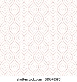Oriental vector pink classic ornament. Seamless abstract background