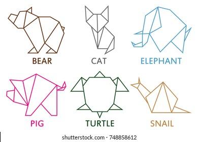 Superb Bear Origami Stock Vectors Images Vector Art Shutterstock Wiring 101 Olytiaxxcnl