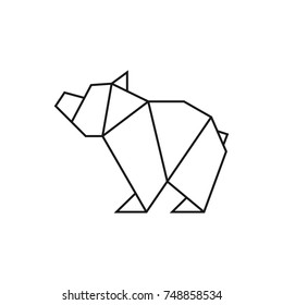Pleasing Bear Origami Stock Vectors Images Vector Art Shutterstock Wiring 101 Olytiaxxcnl