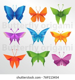 Origami butterfly collection