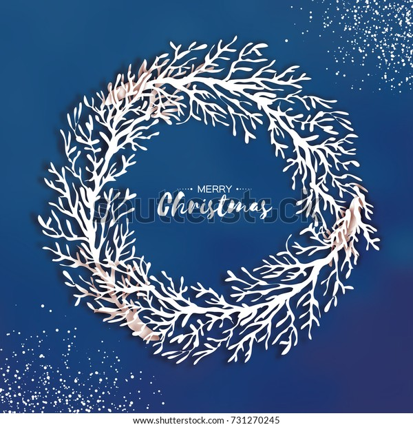 Christmas wreath origami banknotes on a white background. handmade.   620x600