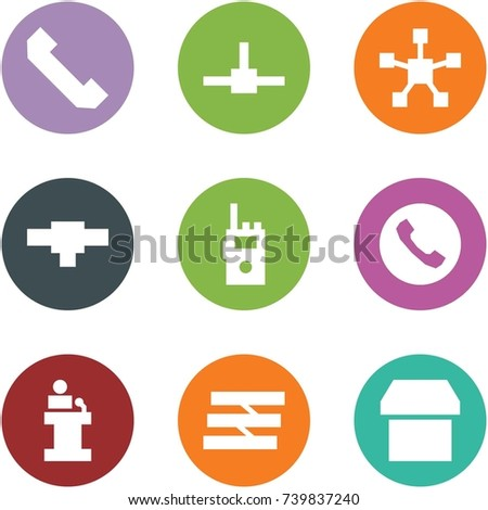 Origami Corner Style Icon Set Phone Stock Vector (Royalty Free